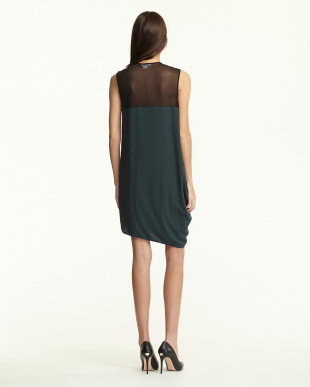 blue NEXA DRAPED ドレス見る