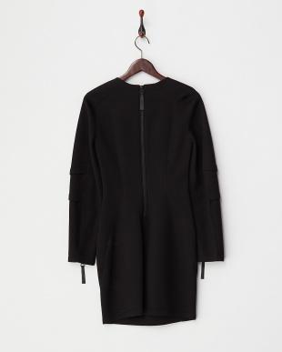 black SPONGE FLEECE スウェットドレス見る