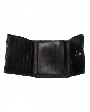 ブラック キャビアスキン 2つ折り財布見る