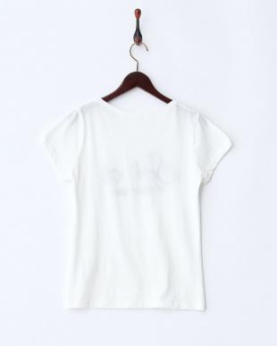 オフホワイト  文字ビジューTシャツ見る