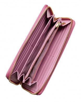 ピンク AW11-02 ラウンドジップ長財布見る