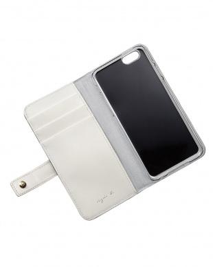 ネイビー  GW10-07 スマホケース iPhone6/6s・スナップボタン留め見る