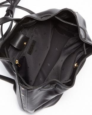 ブラック HS15-04 スタースタッズ巾着型リュック見る