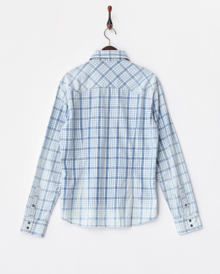 ブルー系 KANT INDIGO COTTON CHECK 3 1/2 OZ シャツ見る