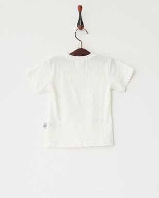 ホワイト  猫プリントTシャツ見る