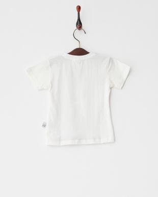 パープル  グラデーション猫プリントTシャツ見る