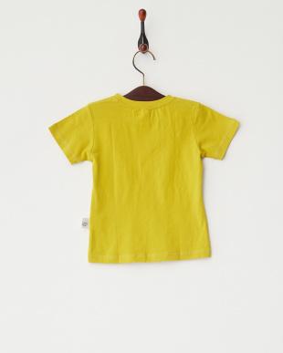 マスタード  グラデーション猫プリントTシャツ見る