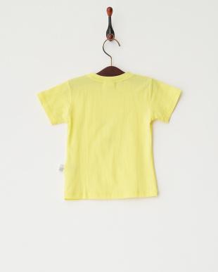 イエロー  グラデーション猫プリントTシャツ見る