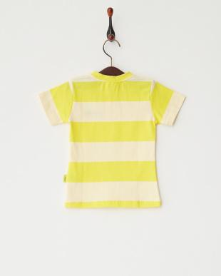 イエロー  Lemon ボーダーTシャツ見る
