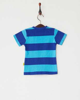 ブルー  Lemon ボーダーTシャツ見る
