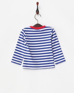 青×白  タコさんウィンナー長袖Tシャツ見る