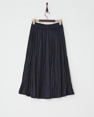 ネイビー  ギャザースカート見る
