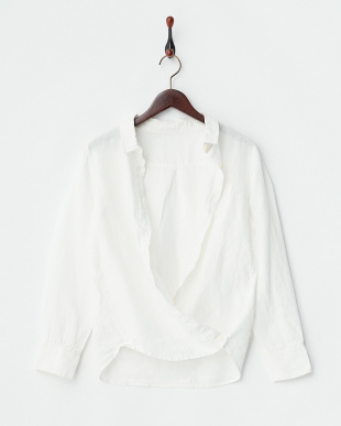 オフホワイト  2WAYフレンチリネンシャツ見る