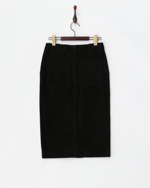 ブラック スエードタイトスカート見る