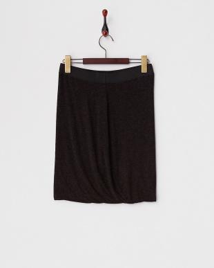 ブラック  メランジカットソータイトバルーンスカート見る