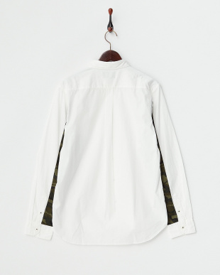 ホワイト  カモフラ使い ボタンダウンシャツ見る