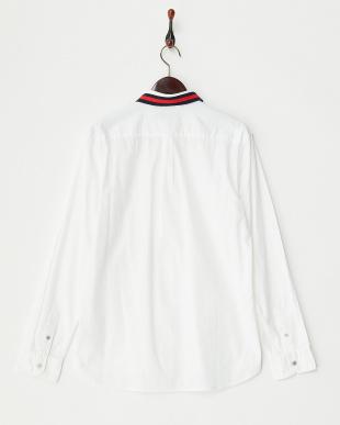 ホワイト  50's ブロードクロスリブレギュラーシャツ見る
