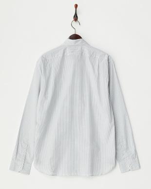 ホワイト  GIZA コンパクトチェックボタンダウンシャツ見る