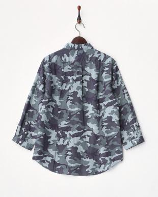210 カモフラリネン7分袖シャツ見る