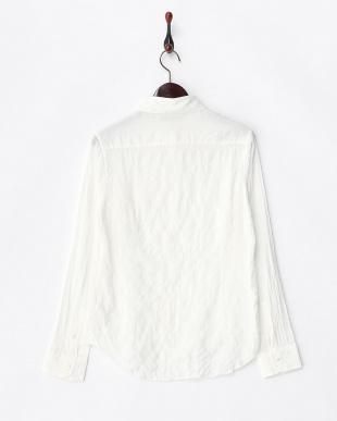 ホワイト  モダールコットン レギュラーシャツ見る