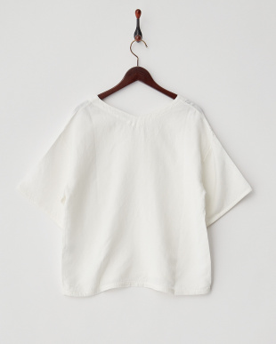 ホワイト  Linen Pull Over Top見る