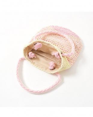 ピンク系 バイカラー 子供用サマーバッグ見る