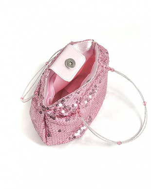 ピンク系  スパンコールバッグ見る