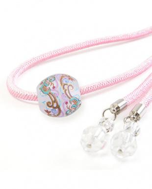 ピンク つる草Aトンボ玉付き飾り紐|WOMEN見る