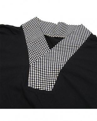 ブラック/ホワイト  センスアップインナー Tシャツ MEN見る