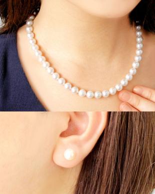 花珠あこや本真珠 8~8.5mm 連ネックレス&ピアス 2点セット見る