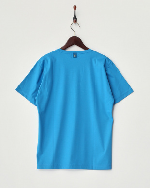ブルー クルーネックTシャツ見る