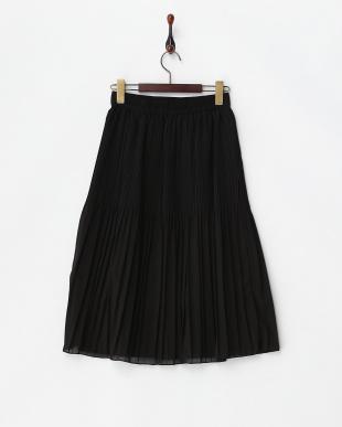 ブラック  ランダムプリーツスカート見る
