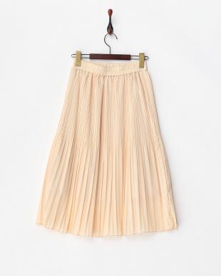 オフホワイト  ランダムプリーツスカート見る