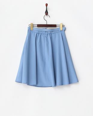 サックス  ベルト付きフレアースカート見る