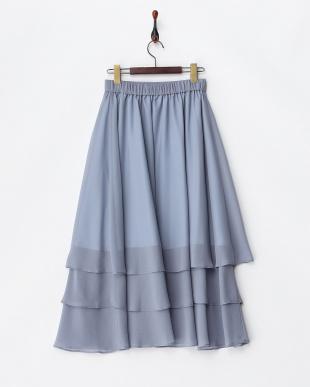 サックス  エアリーティアードスカート見る