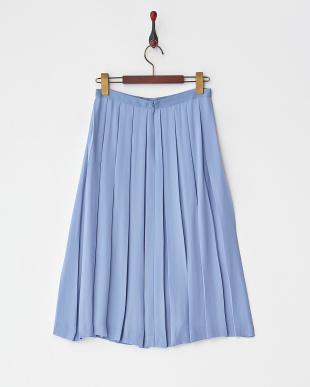 ライトブルー ボックス入りプリーツスカート見る