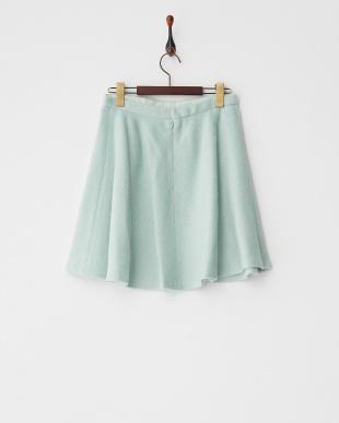 ライトグリーン シャギーフレアースカート見る