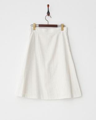 ホワイト系 フロントフレアーマーメイドスカート見る