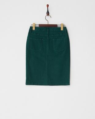 ダークグリーン 5ポケットタイトスカート見る