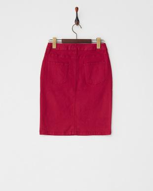 ワイン 5ポケットタイトスカート見る