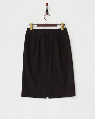 ブラック コットンサテンタイトスカート見る