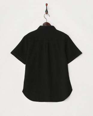クロ  ワッフル織半袖シャツ見る