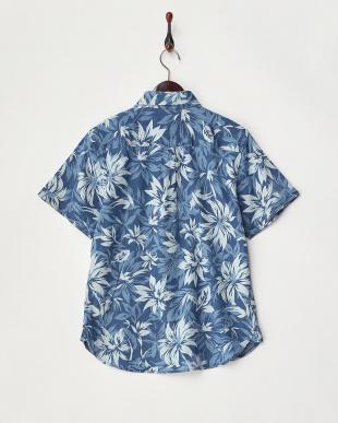 淡いA  デニム抜染プリントシャツ見る