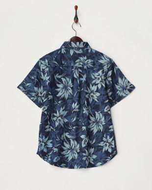 濃いA  デニム抜染プリントシャツ見る