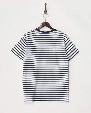 シロ×ネイビー  ボーダーTシャツ見る