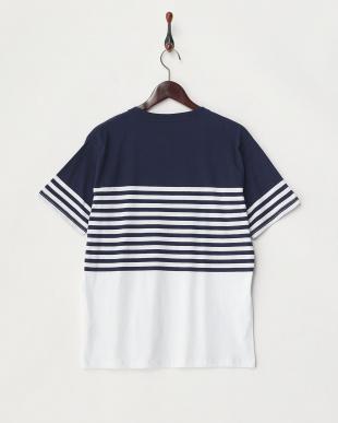 ネイビー×シロ2  転換ボーダーTシャツ見る