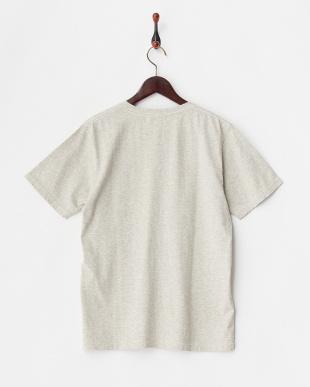 杢グレー  ヴィンテージピーナッツプリント入りピグメントTシャツA見る