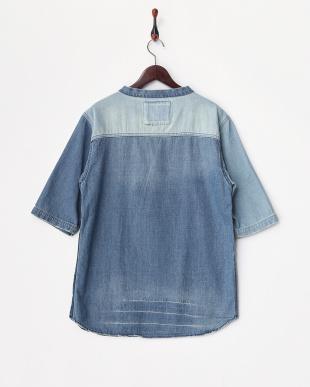 パッチワーク  Denim Pullover Shirts見る