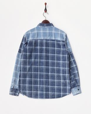 パッチワーク  Indigo Check Shirts見る