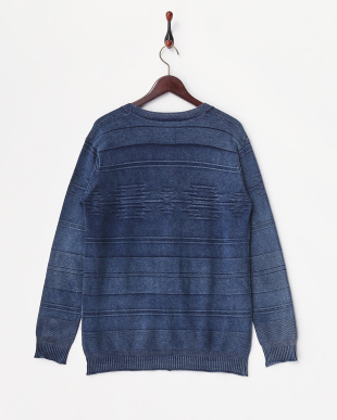ダークインディゴ  12GG Indigo Knit Ortega Links Cardigan見る